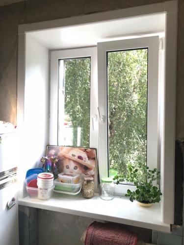 Установка двухстворчатого пластикового окна, Киев, Жукова